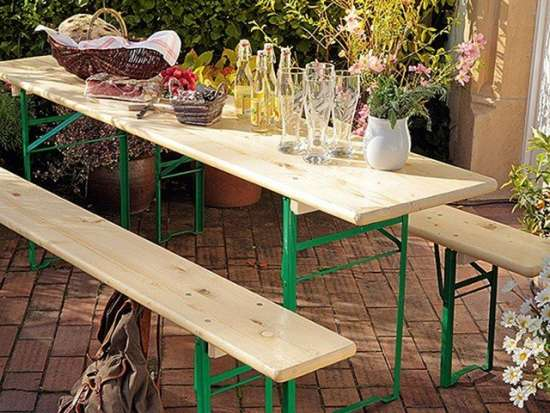 Location table brasserie + 2 bancs location
